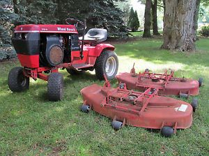"Wheel Horse 312 8 Lawn Garden Tractor with 2 42"" Parts Mower Decks"