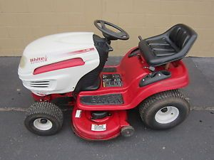 "White LT1500 38"" Riding Lawn Mower Tractor 15 5HP Engine CVT Transmisson"