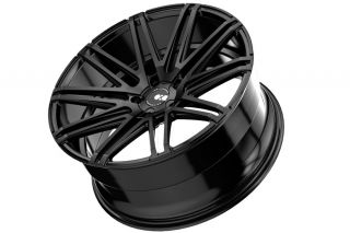 "22"" Cadillac cts V Sedan XO Milan Matte Black Concave Wheels Rims"