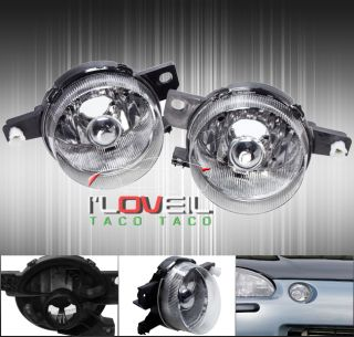 93 95 Honda Civic Del Sol JDM EG2 Black Housing Front Bumper Driving Fog Light