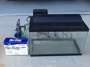 10 Gallon Complete Aquarium Kit Filter Heater Bio Bag Kit