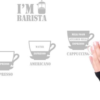 BUYNSELL4989 I Am Barista Coffee Kitchen Removable Adhesive Wall Sticker Decal