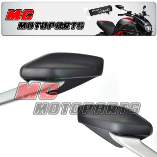 Ducati Diavel Carbon Aftermarket Mirrors Pair Set MC Moto Top Mirrors