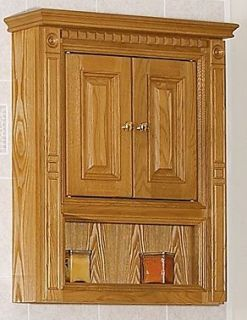 "Newport Oak Bathroom 36"" Vanity RH Drawers Medicine Cabinet Mirror Lights Valet"