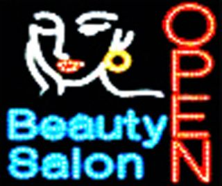 Ultra Bright LED Neon Light Hair Cut Beauty Salon Open Business Sign B61