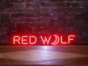 Red Wolf Beer Neon Sign
