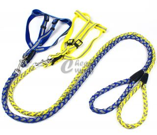 "1 5 120cm 47"" Colorful Pet Dog Collar Leash Chest Harness Strap"
