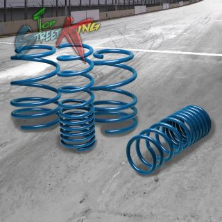 "Bolt on 1"" Drop Suspension lowering Springs Spring 10 13 2U 4U Compact MPV Blue"