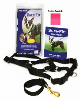 Premier Sure Fit Dog Harness w Car Control Strap New