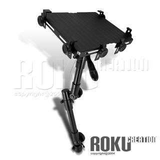 Black Aluminum Laptop Extend iPad Holder Notebook Mount Stand Desk Car