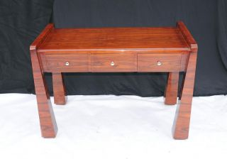 Rosewood Art Deco Desk 1920s Office Furniture Writing Table