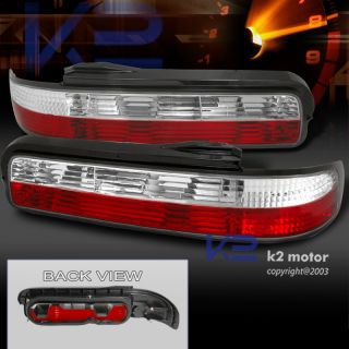 1989 1994 Nissan 240sx s13 Coupe Tail Lights Rear Lamps Red Clear