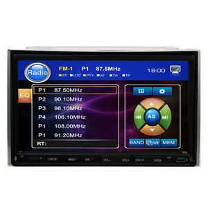 "Double 2 DIN 7"" inch Touch Screen Car Stereo DVD CD  Player Radio Microphone"