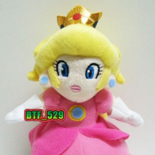 "New Super Mario Bros Plush Figure 7""1 2 Princess Peach"
