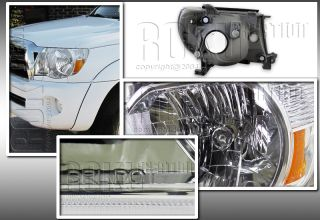 2005 2010 Toyota Tacoma JDM Clear Headlights 2pcs Head Lamps