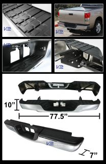 Toyota 2007 2013 Tundra Chrome Stainless 1pc Rear Bumper Step Assy w Pad