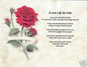 A Love Like No Other Poem Prayer Personalized Name Rose