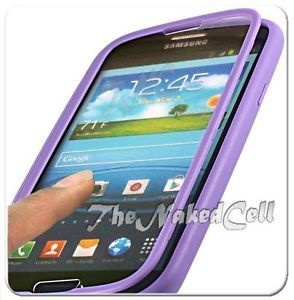 For Samsung Galaxy S3 s III 3 Light Purple Touch Through Screen Candy Case Cover