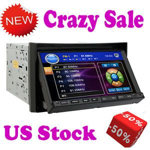 "Ouku Double 2 DIN 7"" Touch Screen Car Stereo DVD CD  Player Radio Microphone"