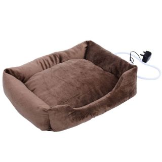 Portable Electric Pet Bed Dog Cat Heat Pad Warmer House Litter Animal Coffee