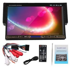 "Brand New Single 1Din 7"" Flip Down Car Stereo DVD CD Radio Player Touch Screen"