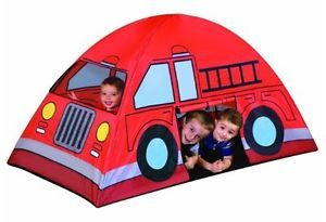 Kids Tent Fire Truck Indoor Outdoor Collapsible Play House Children Game Fun NE