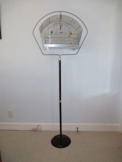 Vintage Hendryx Bird Cage Art Deco with Harp Stand Beautiful Condition Antique