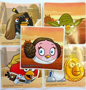 15 Angry Birds Star Wars Stickers Party Favors Teacher Supply
