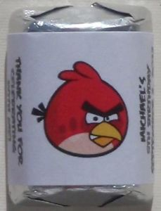 Angry Birds Birthday Party Personalized Candy Wrapper Favors Stickers Supplies