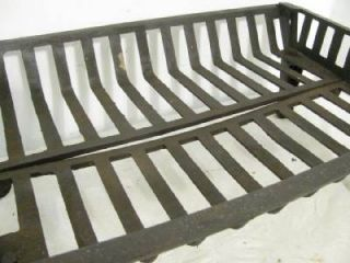 Good Used Heavy Duty Cast Iron Indoor Outdoor Fireplace Log Cradle Grate Andiron