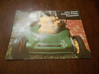 John Deere Outdoor Power Equipment Catalog 1974 Rotary Mowers Tillers Edgers