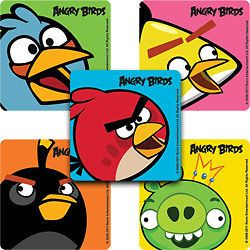 15 Angry Birds Close Up Stickers Party Favors Teacher Supply