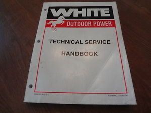 White Outdoor Power 700 800 900 Lawn Mower Tractor Technical Repair Manual