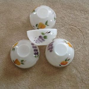 "Fire King Hand Painted Bowls ""4"""