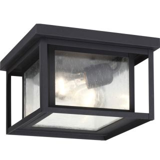Sea Gull Lighting 78027 12 Hunnington 2 Light Outdoor Ceiling Light in Black