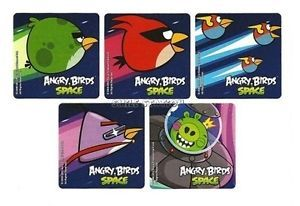 15 Angry Birds Space Game Stickers Kids Party Goody Loot Bag Filler Favor Supply