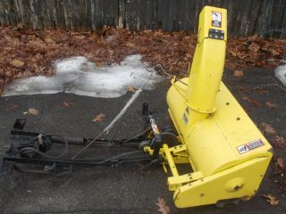 John Deere Snow Thrower Attachment