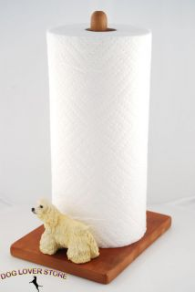 Cocker Spaniel Dog Figurine Paper Towel Holder Blonde