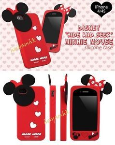 New 3D Disney Mickey Minnie Mouse Bow Knot Silicone Case for iPhone 5 5g Purple