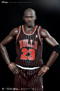 Custom 1 6 Scale Michael Jordan Black Chicago Bull Jersey Suit for Enterbay Body