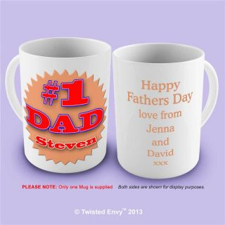Number 1 Dad Fathers Day Custom Personalised Funny Novelty Mug Tea Coffee Gift