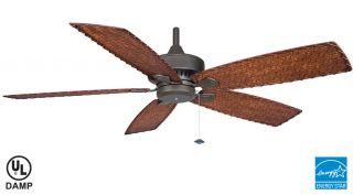 Fanimation Cancun Tropical Outdoor Ceiling Fan FP8009OB