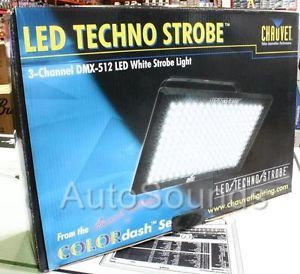 New Chauvet St 3000LED 3 Channel DMX 512 LED White Techno Strobe Effect Light