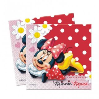 20 Disney Minnie Mouse Red Polka Dots 33cm Party Napkins