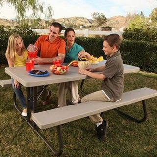 Lifetime 6' Folding Picnic Table Lightweight Durable and Stain Resistant