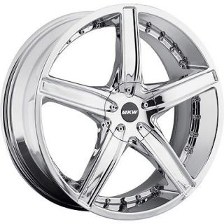 18x7 5 Chrome MKW M107 Wheels 5x100 5x4 5 40 Land Rover Freelander
