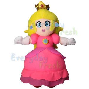 "New Nintendo Super Mario Bros 12"" Princess Peach Plush Figure Doll"