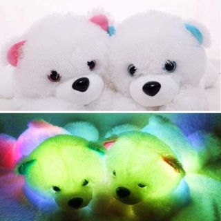 LED Teddy Bear Shaped Light Up Pillow Color Changing Cusion