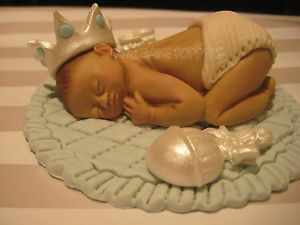 Prince Baby Cake Topper Baby Shower Crown Birthday Decorations Favors