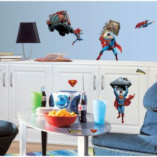 21 Superman Day of Doom Kids Boys Decorative Wall Decals Stickers Stick UPS New